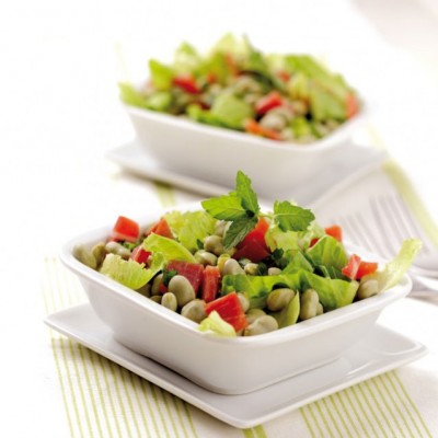 Fava Bean Salad with Roasted Peanuts