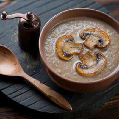 Mushroom and Pine Nut Soup