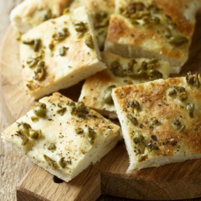 Olive Fougasse and pine nut oil